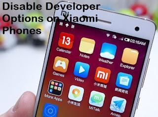 Cara Mematikan Mode Developer Hp Xiaomi