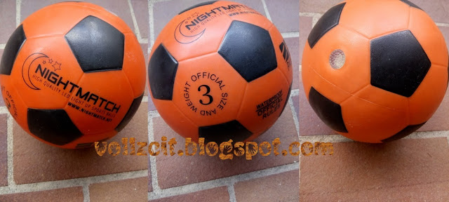 fußball orange black water resistant play soccer kids