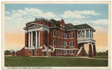 Image result for Elizabeth City  hospital 1914