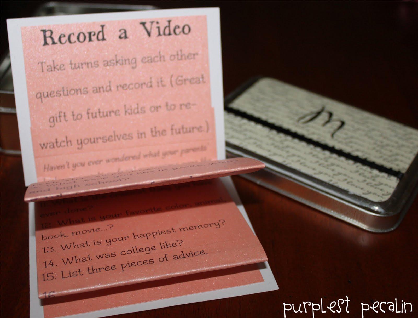 Wedding Date Gift Ideas: Purplest Pecalin: Tin Of Dates Wedding Gift