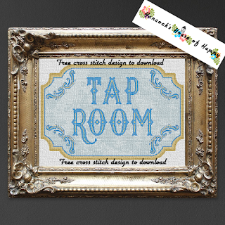 Two-for-One Vintage Tap Room Craft Beer Cross Stitch Pattern
