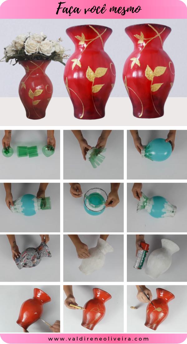 Como fazer vaso de garrafa pet