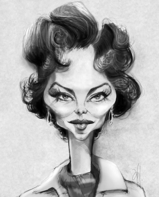 Ava Gardner por Abel Joachim Crayon