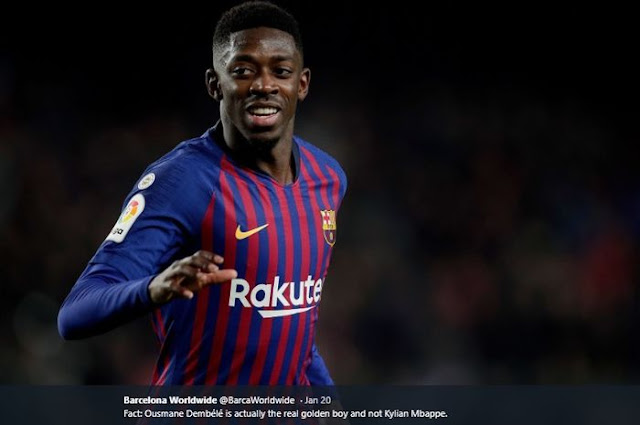 Ousmane Dembele Like Photo of Himself in Liverpool Uniform, Want to Join?