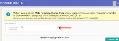 Edit Nama Mapel