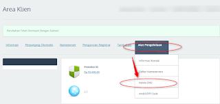 mengaktifkan  DNS idwebhost tampilan member baru
