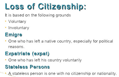 Loss of Indian Citizenship