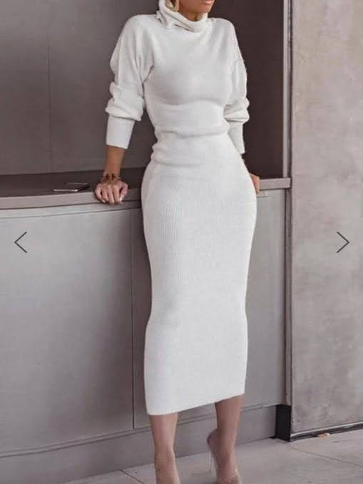 Turtleneck Plain Casual Long Sleeve Sweater