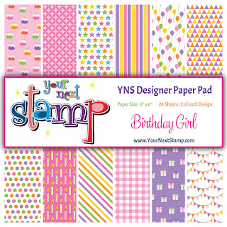 Designer Paper Pad Birthday Girl