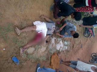 Puluhan Polisi Geledah Rumah Pelaku Pembunuhan Desa Gajah Mati