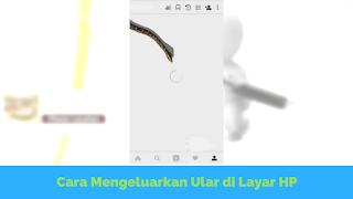 akhir ini ramai di media sosial hanya dengan mengetik  Tutorial Memunculkan Ular di Layar Android