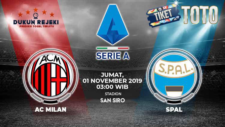 Prediksi Pertandingan  Ac Milan vs SPAL 01 November 2019