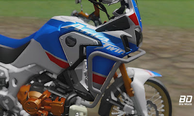 Download mod moto CRF 1000L2 Africa Twin + Ronco para GTA San Andreas, GTA SA Jogo PC
