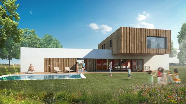 Perspective 3D - villa d'architecte