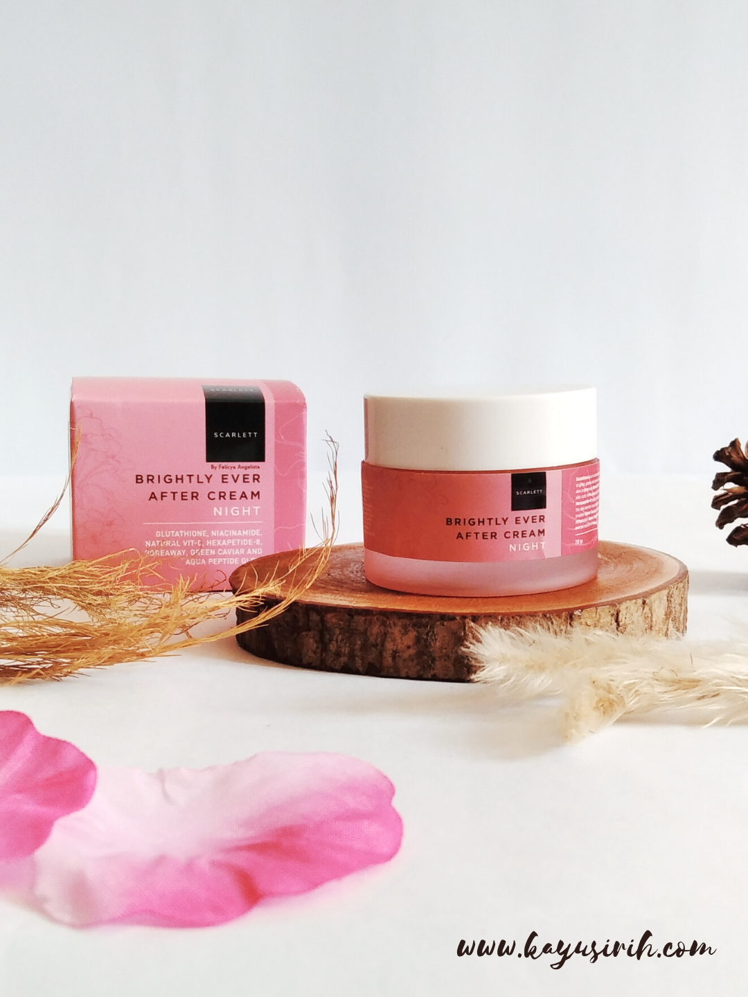 Review Scarlett Brightly Ever After Night Cream