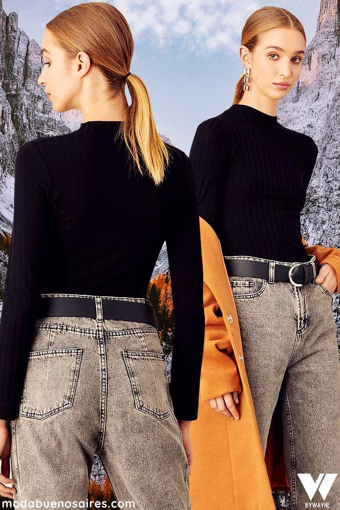 pantalones de jeans invierno 2021 moda mujer