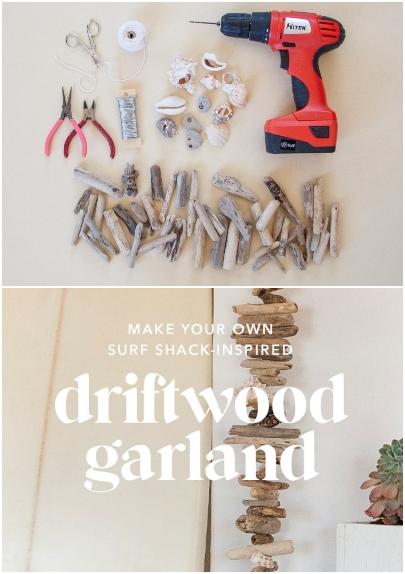 DIY Driftwood Garland Tutorial How to Make