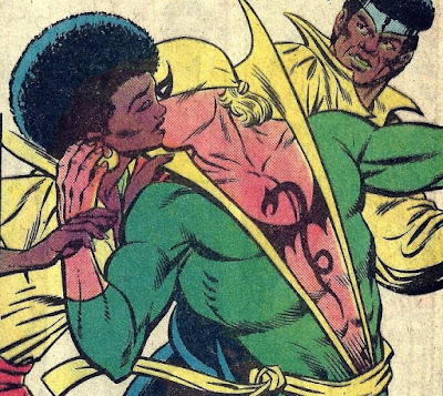 Iron Fist & Misty Knight Kiss