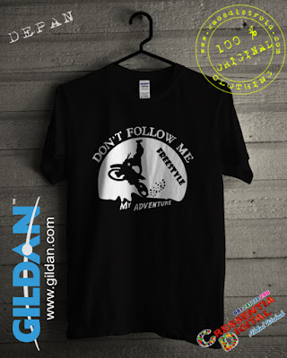 Baju Kaos Distro Gildan MotoCross FreeStyle Warna Hitam 2