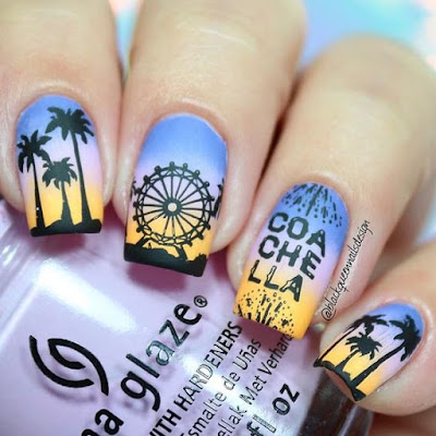 Coachella is quickly approaching because the festivities begin this weekend in California ✘ 37+ Latest Coachella Nail Art Designs Ideas For Coming Music Festival 2020