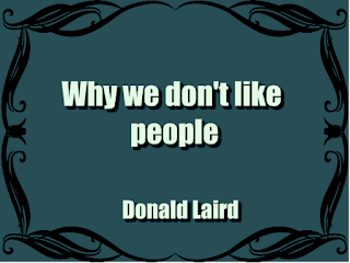 WHY WE DO NOT LIKE PEOPLE