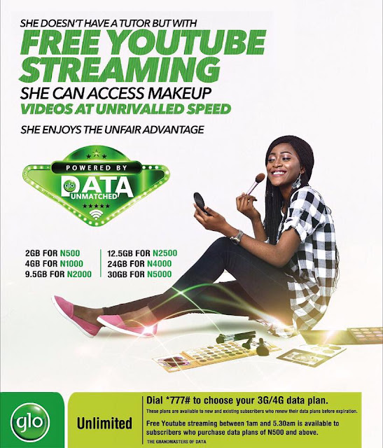 Glo complete list of data plans and subscription codes