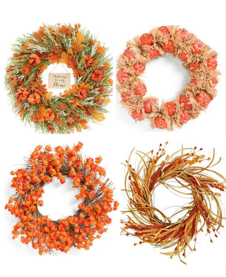 orange fall wreath
