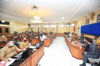 Rapat Koordinasi Persiapan Penerapan PSBB di Ruang Imbaya Pemkot Tarakan - Tarakan Info