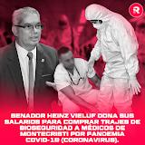 Senador HEINZ Vieluf dona sus salarios para comprar trajes de bioseguridad a médicos de Montecristi por pandemia COVID-19 (Coronavirus).