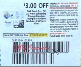 Crest Gum Toothpaste CVS Deal $0.49 4-26-5-2