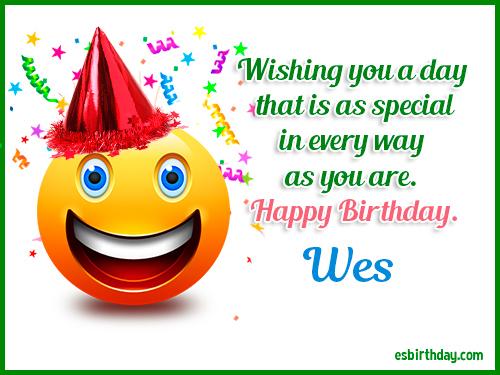 happy birthday wes Happy Birthday Wes   Happy Birthday images for Name happy birthday wes