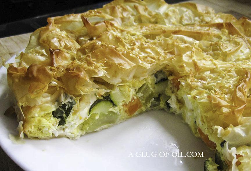 Vegetable Filo Pastry Tart