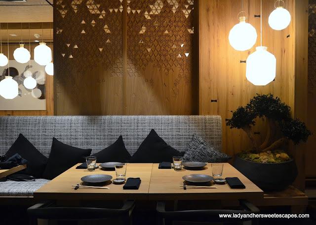 contemporary and zen atmosphere at Miyako