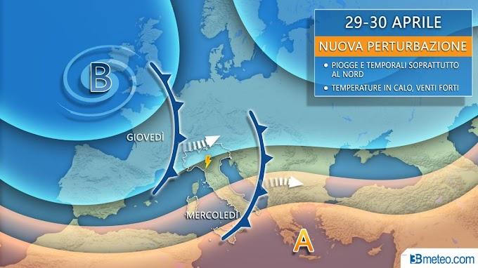 Meteo: in arrivo temporali forti al Nord e dal 4 maggio ondata di caldo