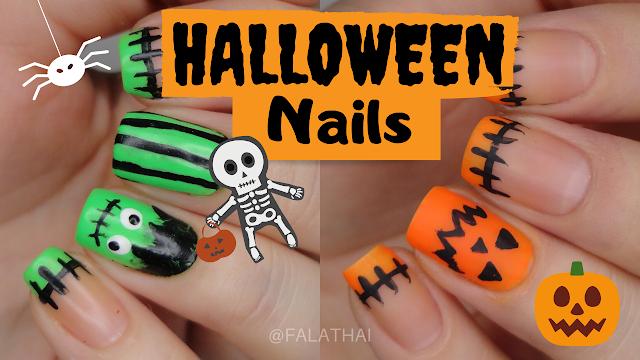 halloween nails decoração de unhas halloween