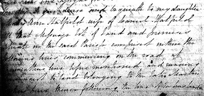 Kings County, New Brunswick, Probate Files, RS 66, John Lannen, 1832, will, p 4; Provincial Archives of New Brunswick, F11570.