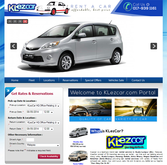 Rent a Car VMY2014 with KLEzCar Service - Cheap and Can do Online
