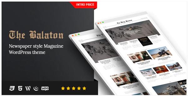 Balaton Theme WordPress Magazine