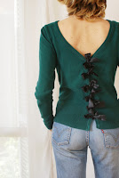 diy bow back sweater francinesplaceblog