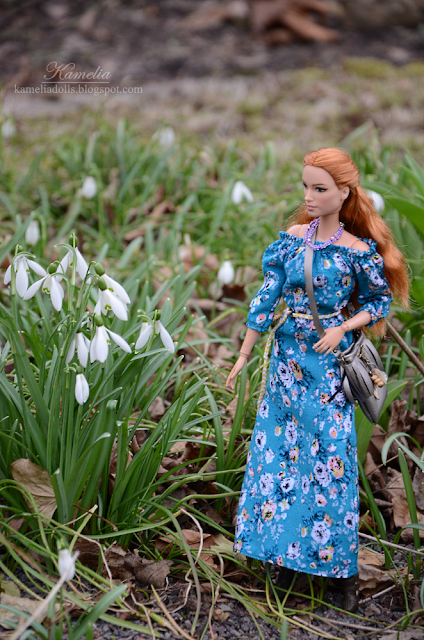 Handmade boho dress for doll