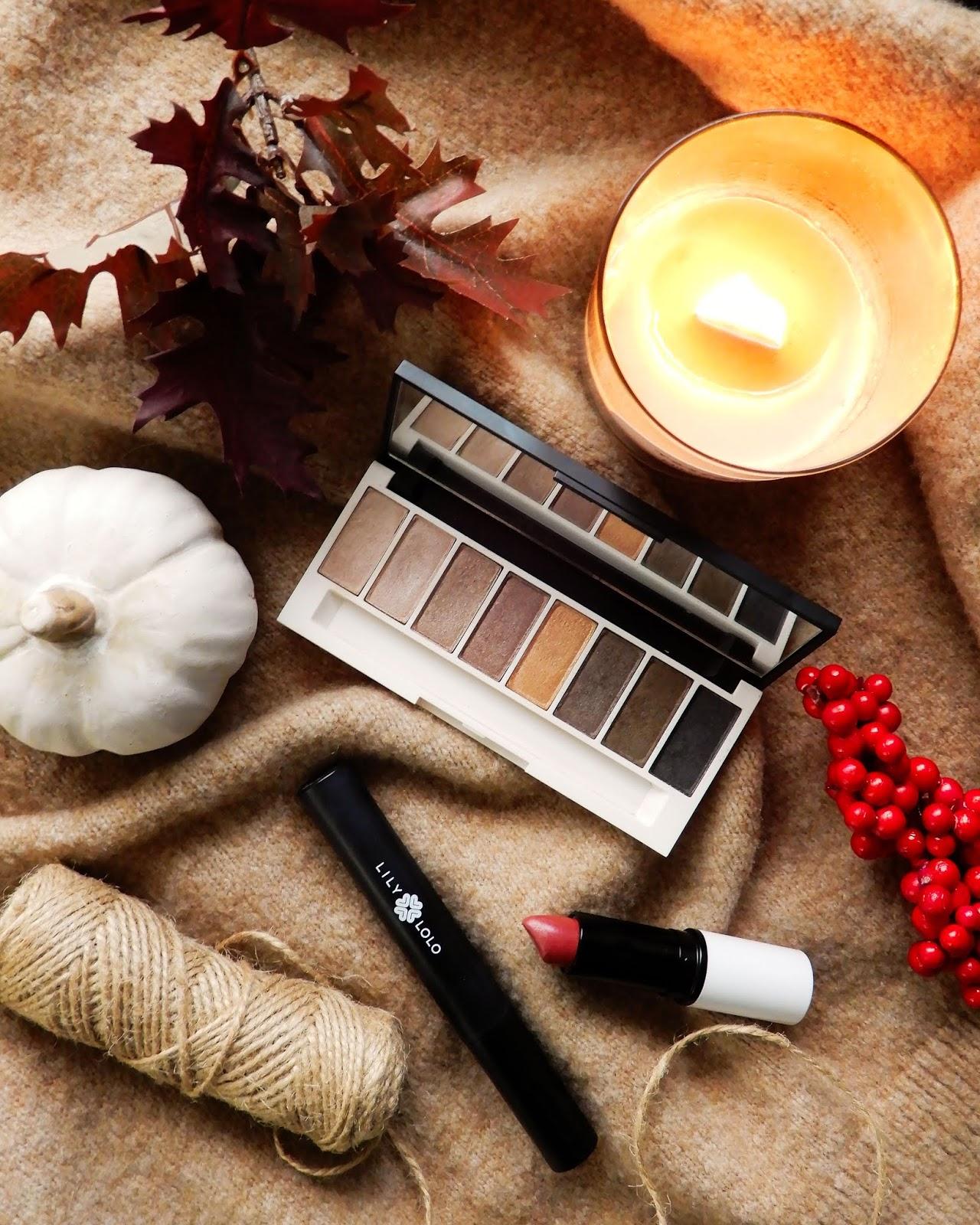 Naturalny makijaż na jesień z Lily Lolo | Paleta Laid Bare, Tusz Big Lash & Wegańska szminka