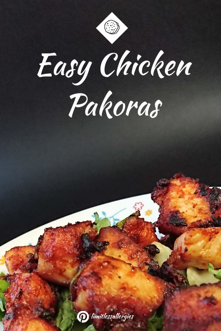 pinning image for Easy Chicken Pakora