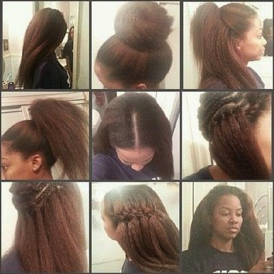 natural hair crochet styles
