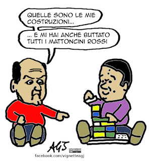 Bersani, Renzi, minoranza PD, elezioni, voti, PD, vignetta satira
