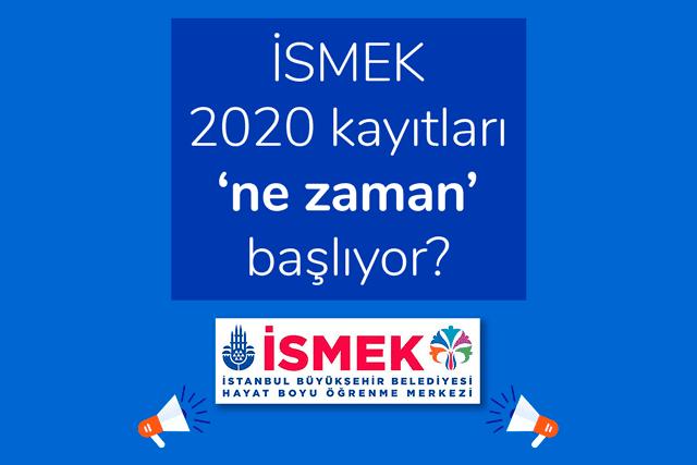 İstanbul Büyükşehir Belediyesi Hayat Boyu Öğrenme Merkezi iSMEK 2020 kayıtları başlıyor. Detaylar kariyeribb.com'da!