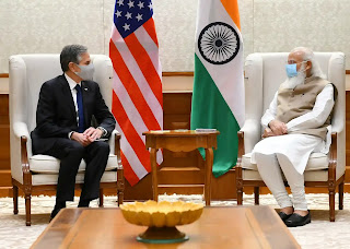 अमेरिकी विदेश मंत्री एंटनी ब्लिंकेन ने प्रधानमंत्री मोदी से भेंट की