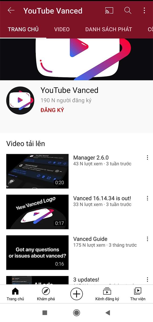 Tải Youtube Vanced V16.02.35 mới nhất  với giao diện tối nổi bật 2021 b
