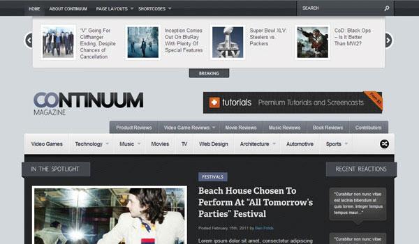 Continuum Magazine Theme