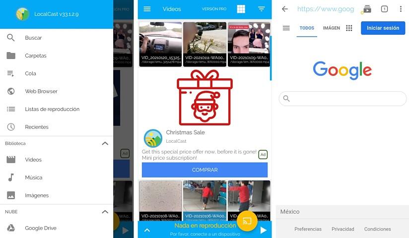Transmitir contenido de internet al Smart TV, Chromecast y más