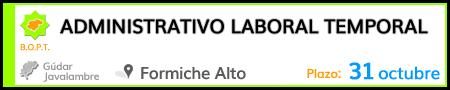 Administrativo laboral temporal en Formiche Alto